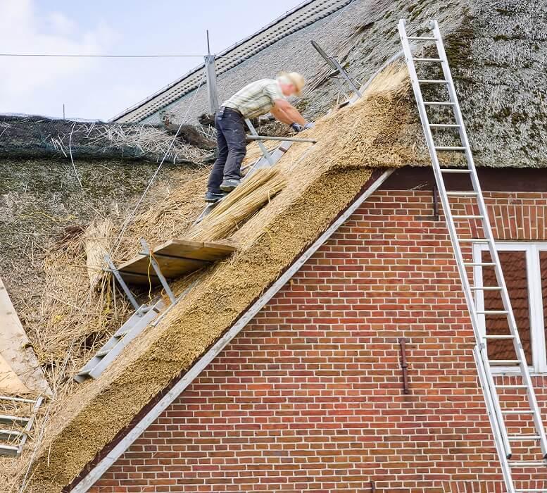 riet dak repareren